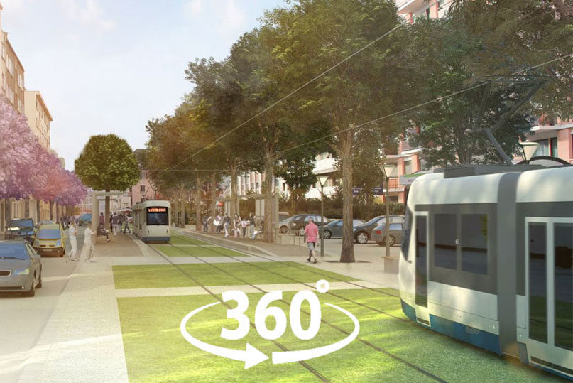 Tram Annemasse Geneve application realite virtuelle
