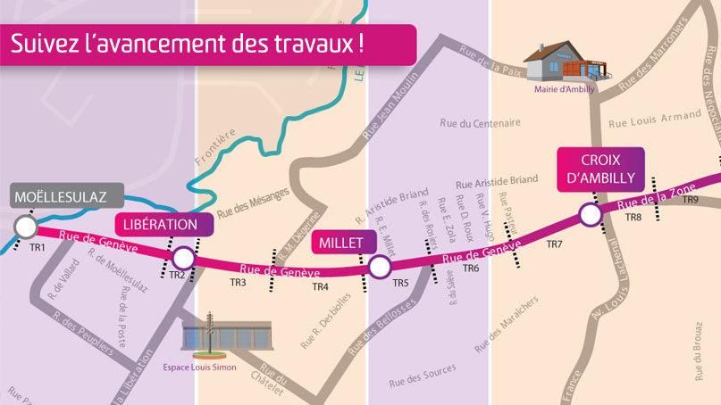 Tram Annemasse Genève avancement travaux réseaux 012018
