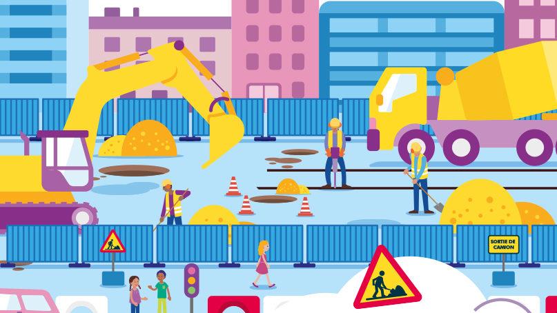 Chantier Tram Annemasse Genève - Adopte les bons réflexes de sécurité
