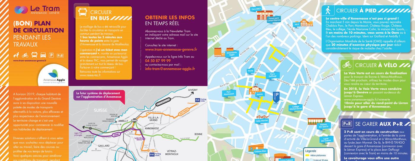 (Bon) plan de circulation pendant les travaux du Tram Annemasse-Genève