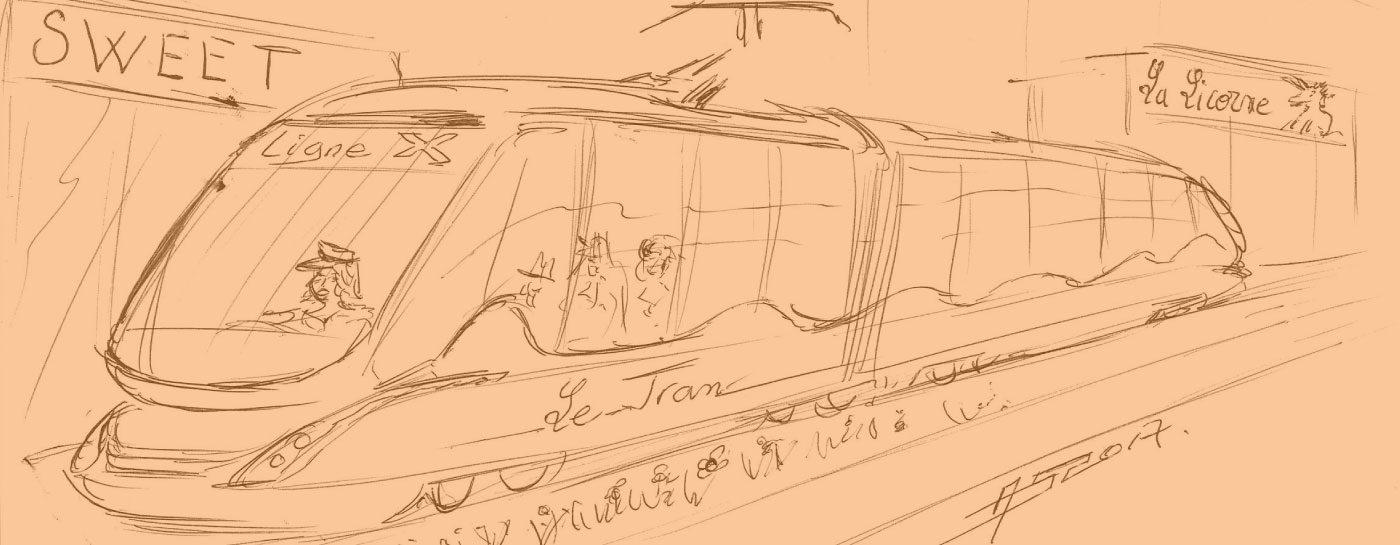 Tram Annemasse Geneve dessin
