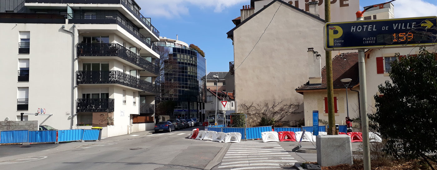 Tram Annemasse Genève modifications circulation parking montessuit