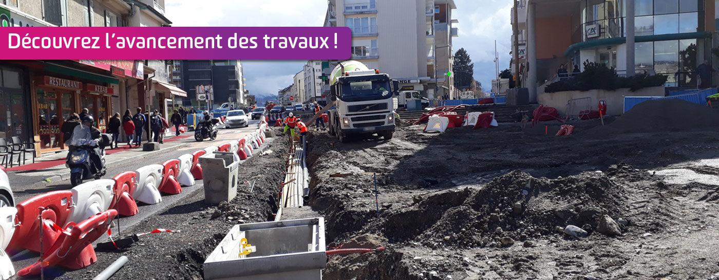 Tram Annemasse Genève point avancement travaux avril 2018