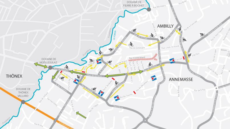Tram Annemasse Genève bon plan circulation vélos