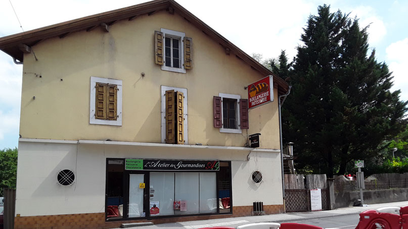 Tram Annemasse Genève démolition boulangerie gaillard avant travaux
