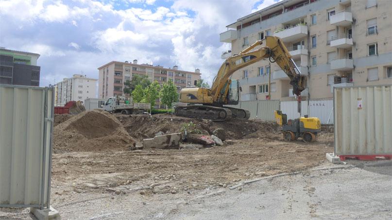 Tram Annemasse Genève démolition boulangerie gaillard
