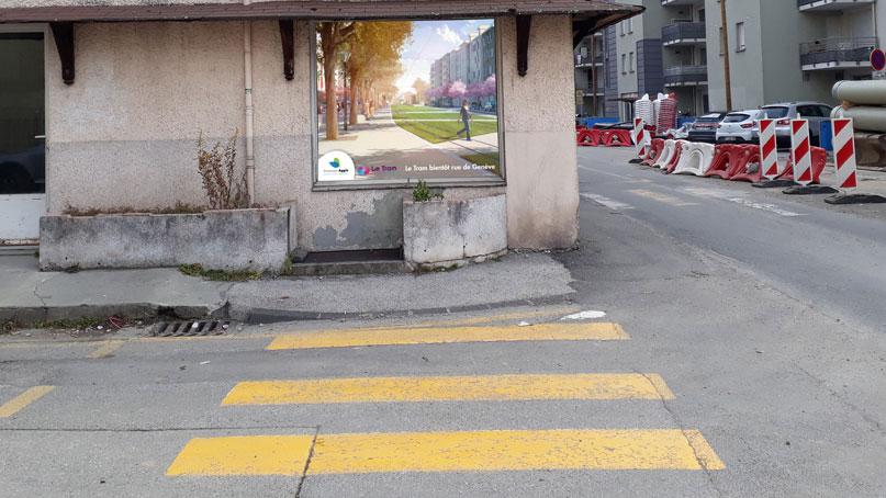 Tram Annemasse Genève vitrines